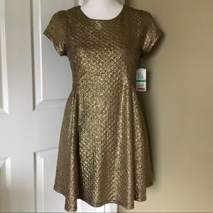 Girl's Gold Holiday Dress